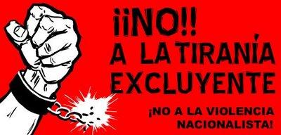 ¡¡No!! A la tiranía excluyente