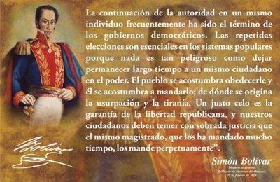 Texto de Simón Bolivar