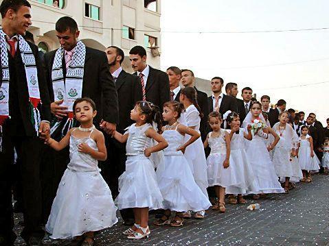 Hamas casa a sus militantes con niñas menores de 10 años
